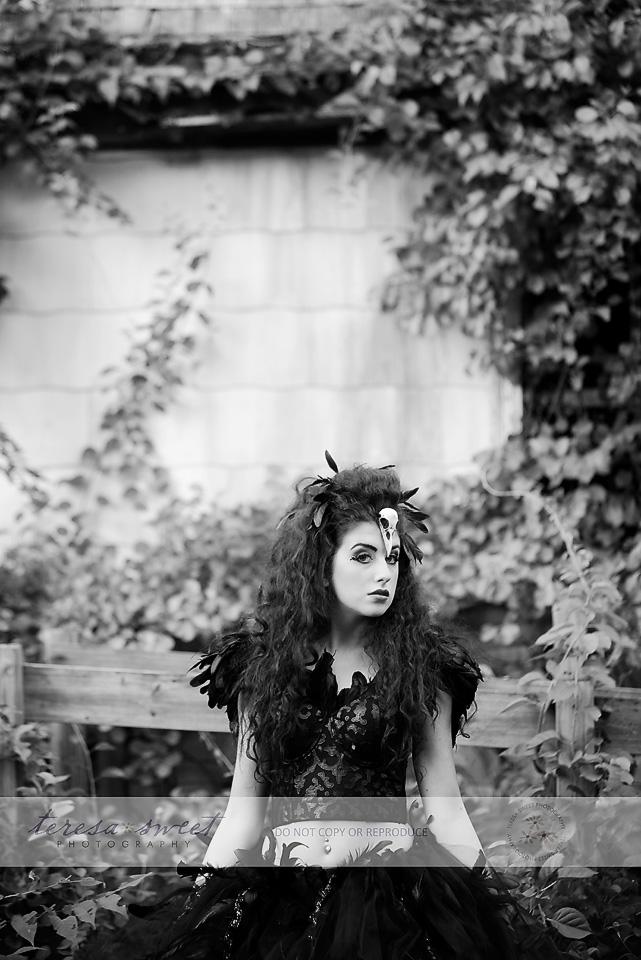 The Raven, Inspired Photo Session, RI Model, RI photographer
