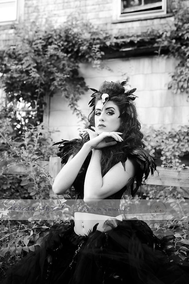 RI model, RI photographer, The Raven, Inspired photo session